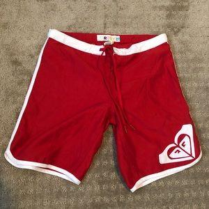 Red Roxy Board Shorts